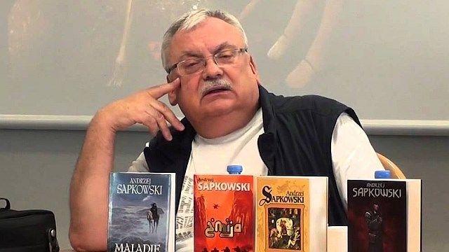 Анджей Сапковський на презентації книг