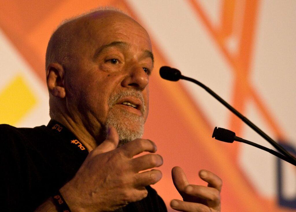 Пауло Коельйо на презентації книжки
